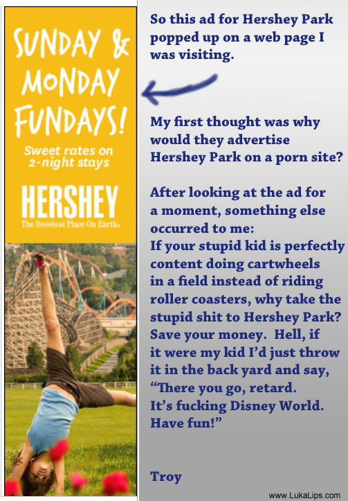 Hershey Park ad